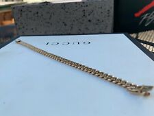 SOLID Cuban link bracelet 18k 23grams ROSE GOLD - Thick & Heavy