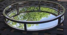 """Godinger Aspen Collection Stainless Steel Round Vanity Mirror Tray 13"""" 49831 NEW"""