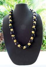 Handmade Brown 24 nut Kukui & Orange Mongo Shell Hawaiian Lei necklace NWOT