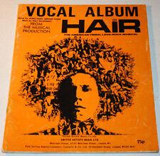 HAIR Vocal Album Ex- Condition 1968 Sheet Music Book