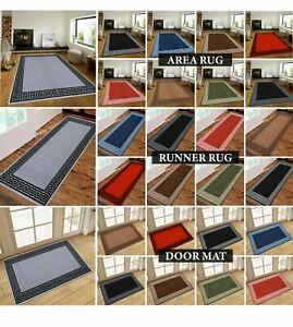 New Non Slip Hallway Kitchen Rugs Living Room Bedroom Carpets Runner & Door Mat