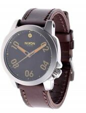 NEW Nixon Ranger 40 Leather Black / Brown Stainless Steel Analog watch