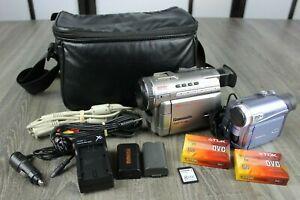 2 Panasonic MiniDV Digital Video Camcorder PV-DV400D & PV-GS2 Batteries & Extras