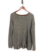 VINCE Women's Linen Long Sleeve Sweater Size Small Gray