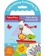 Fisher Price Childrens Carry Along Colouring Set Activity Gift Travel Crayons 3+