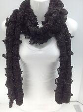 Women's RALPH LAUREN Black Long Winter Scarf - $52 MSRP - 10%