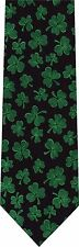 ST PATRICK'S DAY CLOVER ALL OVER  NEW NOVELTY TIE