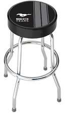 Ford Mustang Garage Stool Bar Shop Chair Work Seat Chrome Durable Padded Cushion