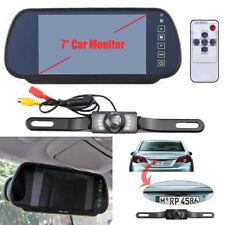 """7"""" LCD Car Rear View Backup Mirror Monitor Reverse Camera 8LED  IR Night vision"""