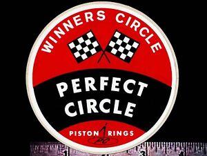 PERFECT CIRCLE Piston Rings - Original Vintage 1960's 70's Racing Decal/Sticker