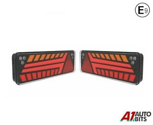 Led Rear Tail Lights N.Plate Stop Dynamic Indicator For Man Daf Volvo Scania E9
