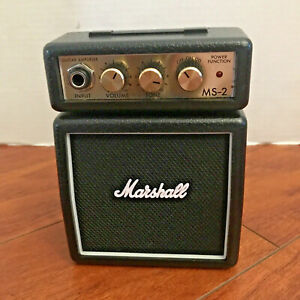 Marshall MS-2 Mini Micro Electric Guitar Amplifier Portable Amp Clip On WORKS