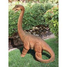 "Scaled Jurassic Brachiosaurus Dinosaur Design Toscano 40½"" Hand Painted Statue"