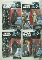"STAR WARS LOT OF 4 COLLECTIBLE ACTION FIGURES 4"" TALL DISNEY HASBRO 2016 ""NEW"""