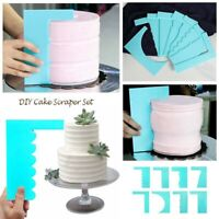 8Style Dough Fondant Cake Scraper Baking Icing Smoother DIY Making Tools Supply