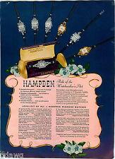 1949 ADVERT 4 PG Hampden Wrist Watch Men's Ladies'