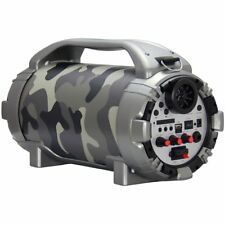 Blackmore 750W Portable Rechargeable Bluetooth Speaker with Mic Input in Camo