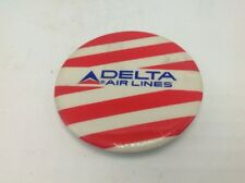 Vintage Delta Airlines Pinback Lapel Pin Red White Stripe Aviation Airplane