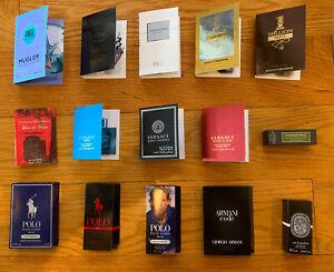 Lot of 15 Sample Designer Perfume For MAN (Dior, ACQUA, Zegna, Versace, Million)