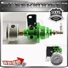 Type-S GREEN Adjustable Fuel Pressure Regulator with FREE oil Gauge