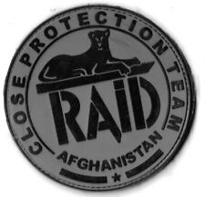 Ecusson PVC POLICE NATIONALE R.A.I.D AGHANISTAN FOND GRIS