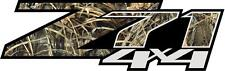 Z71 Chevrolet 4X4 Logo in Grass Camo Decal (Set of 2) Great For Hunters
