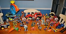 RESCUE HEROES FISHER PRICE LARGE LOOSE LOT HUGE BOX SOME RARE FREE SHIPPING