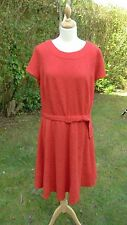 Per Una red scoop necked cap sleeved self patterned dress size 20 BNWT    (C18)