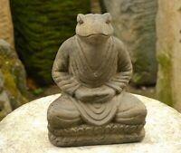 "JAPANESE JIZO STONE 21cm/8.26"" FROG TOAD JAPAN ANTIQUE Buddhism Suiseki d270"