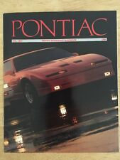 1989 Pontiac Driving Enthusiast Handbook Vol. LXIV