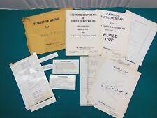 Williams World Cup Pinball Original Manual Pack