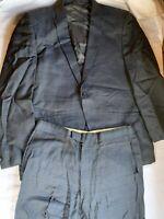 Mens Monte Factor Vintage Suit Jacket Pants Blue Eagle Clothes  BEverly Hills LV