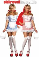 Plus Size Dorothy Red Riding Hood Womens Adult Halloween Costume Reversible 1X2X
