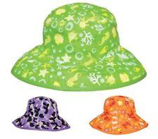 Baby Cappello Da Sole Estate Spiaggia Cappello Secchio Stile Floreale o CUORI BAMBINO KIDS 1-4 anni