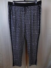 Calvin Klein Plus Size Printed Soft Casual Drawstring Pants 3X Black-White #2244