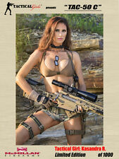 Tactical Girls Kasandra TAC-50 C Signed Poster LTD Edition USMC SEAL Army