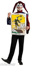 New THE FOOL Tarot Card Jester Hat Joker Halloween Costume size Adult MEDIUM NWT