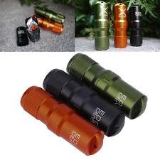 Outdoor Waterproof Aluminum Survival Gear Pill Match Case Container Prepper BOB