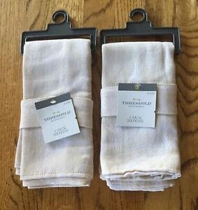 NWT 2 Packs of 2 Threshold Cream 20 x 20  Napkins