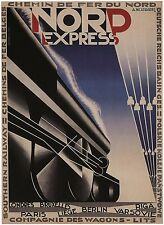 NORD EXPRESS, Vintage Railroad Advertising Reproduction CANVAS PRINT 24x32 in.