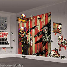 Halloween MEGA Creepy Carnevale Festa Scena Setter Decorazione Muro Kit