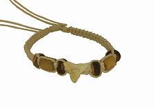 White - Good Luck Charm Real Sharks Tooth Bracelet in Tribal