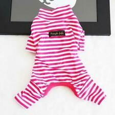 Pet Jumpsuit Autumn Winter Dog Stripe Pajamas Cat Puppy Clothes Teddy Sleepwear