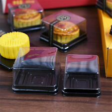 20X 50g/80g Square Moon Cake Trays Mooncake Packaging Boxes Container Holder