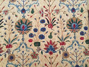 Lee Jofa Persian Print Fabric PER YARD in Cane 416 100% Linen Upholstery Kravet