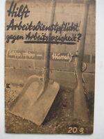 Brandenburg an der Havel SPD Marxismus O. Sidow Hilft Arbeitsdienstpflicht 1931