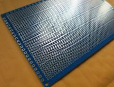 15x10 cm PCB Veroboard Prototype Stripboard Strip Vero Board breadboard BLUE