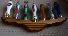 (X2 LOT OF 2 EA BEER TAP HANDLE DISPLAY HOLDS 7 WALL MOUNT AMERICAN EAGLE DESIGN