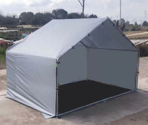 Alphapet 3x2x2 Grey Waterproof Chicken Run Replacement Rain Full End Roof Cover