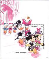 Gambia 1994 Disney/Easter/Mickey/Minnie/Cartoons/Animation 1v m/s (b3123r)